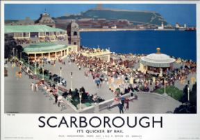Scarborough Spa, Yorkshire. LNER Vintage Travel Poster by Fred Taylor. 1939